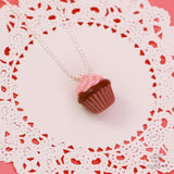 Scented Strawberry Chocolate Cupcake Necklace - Tiny Hands  - 3