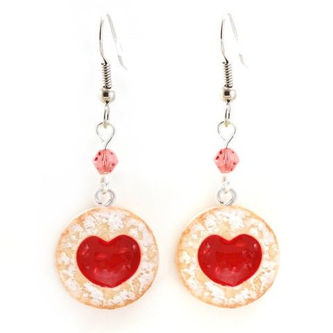 Scented Shortcake Heart Cookie Earrings - Tiny Hands  - 1