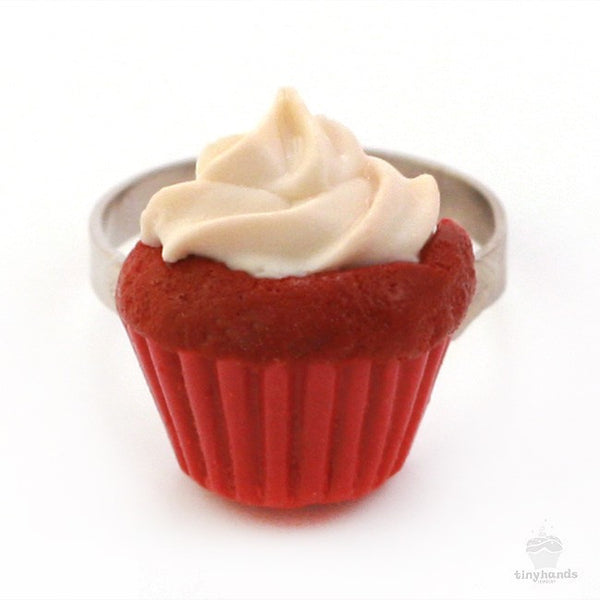 Scented Red Velvet Cupcake Ring - Tiny Hands  - 6