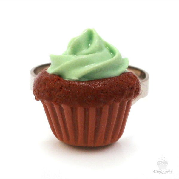 Scented Mint Chocolate Cupcake Ring - Tiny Hands  - 6
