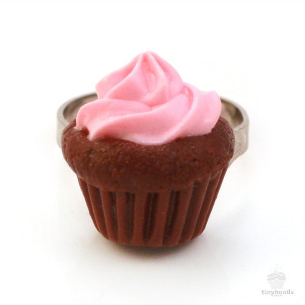 Scented Strawberry Chocolate Cupcake Ring - Tiny Hands  - 6