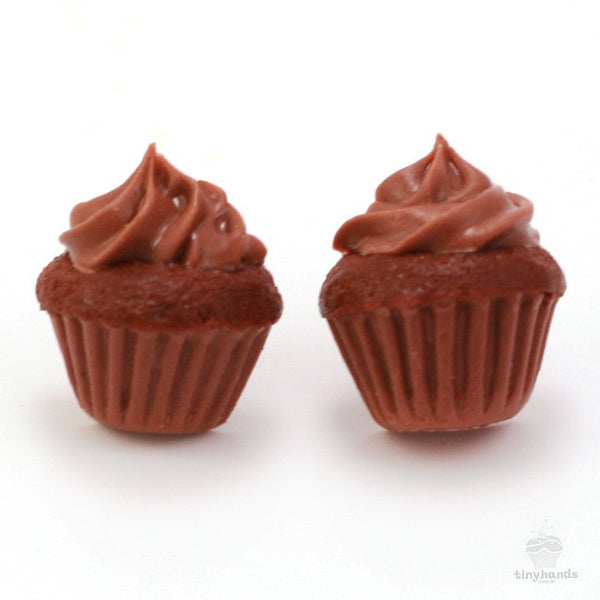 Scented Chocolate Cupcake Earstuds - Tiny Hands  - 5