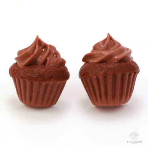 Scented Chocolate Cupcake Earstuds - Tiny Hands  - 1