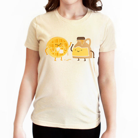 Maple Syrup and Waffle BFF T-shirt - Tiny Hands  - 1