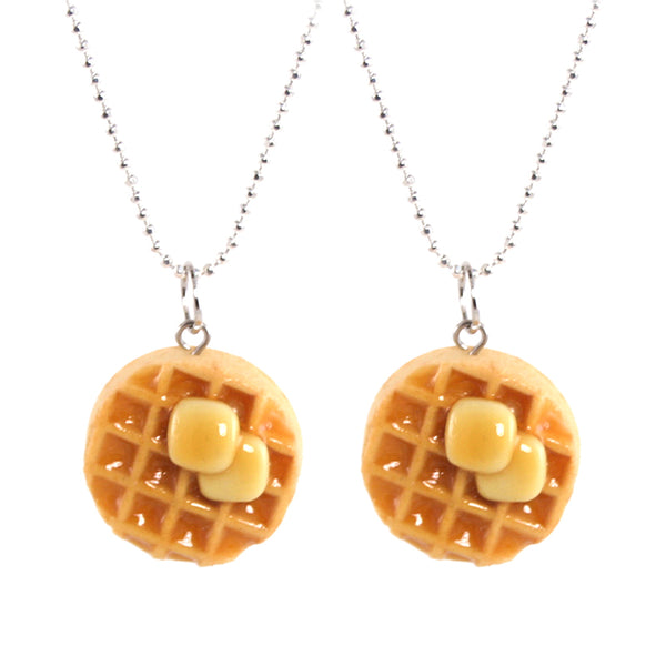 BFF Bundle: TWO Scented Butter & Maple Syrup Waffle Necklaces