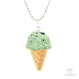 Scented Mint Chocolate Chip Ice-Cream Necklace - Tiny Hands  - 1
