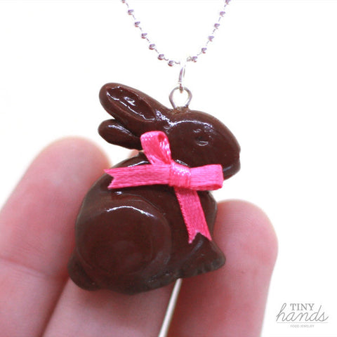 Scented Chocolate Easter Bunny Necklace - Tiny Hands  - 2