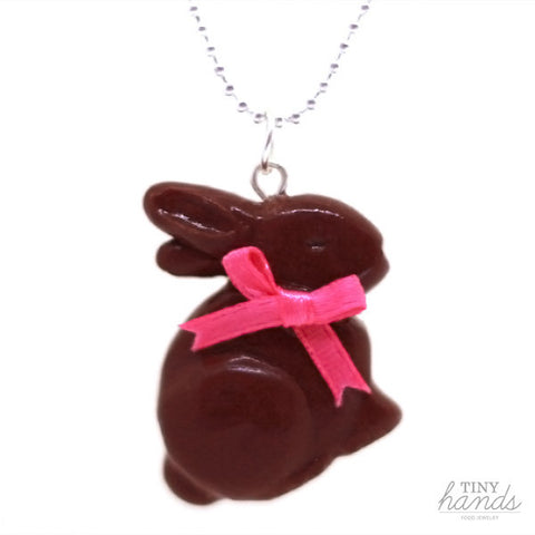 Scented Chocolate Easter Bunny Necklace - Tiny Hands  - 1
