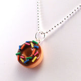 Scented Chocolate Sprinkles Donut Necklace - Tiny Hands  - 2