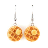 Scented Maple Syrup and Butter on Waffle Earrings