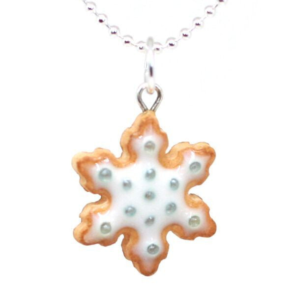 Scented Snowflake Cookie Necklace - Tiny Hands  - 1