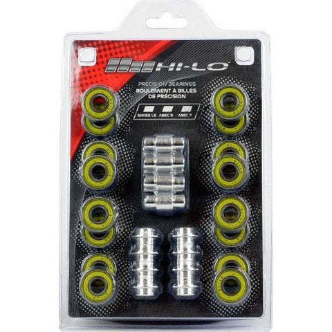Hi-Lo Abec 7 Bearings (16) + Spacers