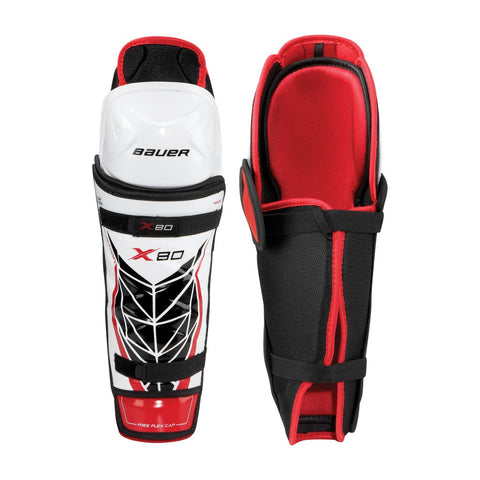 Bauer Vapor X80 Shin Guards Jr 10""
