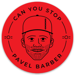 Can you Stop Pavel Barber Stickers