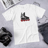 Real Retro Roller Hockey Skate by Tony Headrick T-Shirt