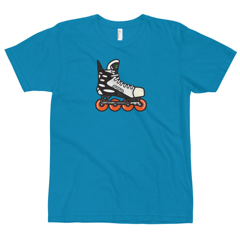 Zoom Retro Roller Hockey Skate by Tony Headrick T-Shirt