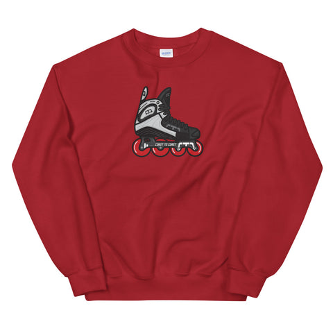 Real Retro Roller Hockey Skate by Tony Headrick Sweatshirt