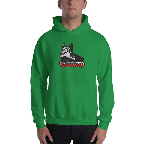 Real Retro Roller Hockey Skate by Tony Headrick Hoodie