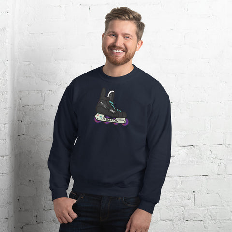 Coast Retro Inline Hockey Skate by Tony Headrick Sweatshirt