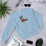 Zoom Retro Roller Hockey Skate by Tony Headrick Sweatshirt