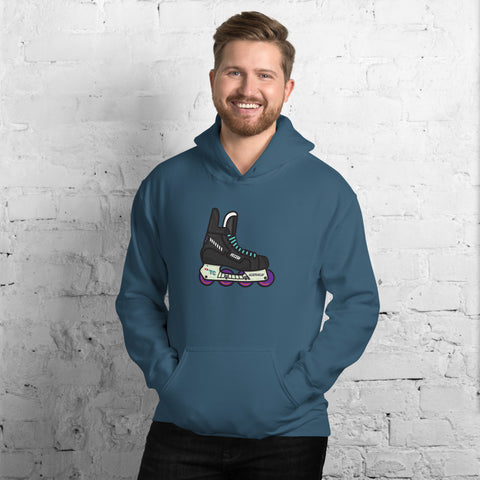 Coast Retro Roller Hockey Skate by Tony Headrick Hoodie