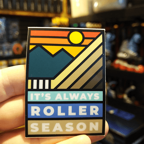 It's ALWAYS Roller Season Stained Glass Sticker by Tony Headrick