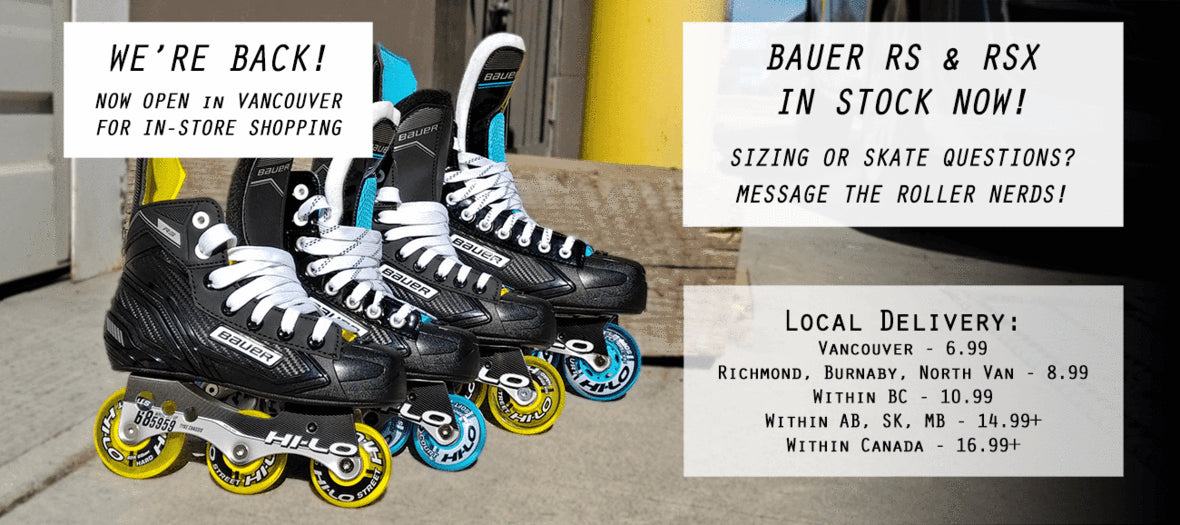 Bauer RS and RSX Inline Hockey Skates Youth, Junior and Senior