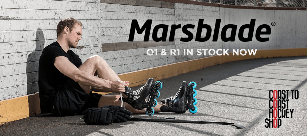 Marsblade R1 and O1 Roller hockey frames in stock at Coast to Coast Hockey Shop in Vancouver BC Canada