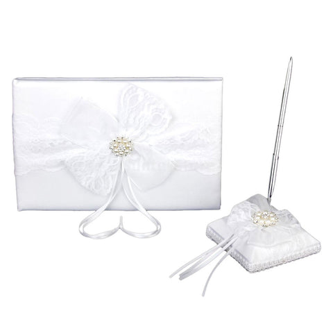 Wedding Guestbook Pen and Stand Set