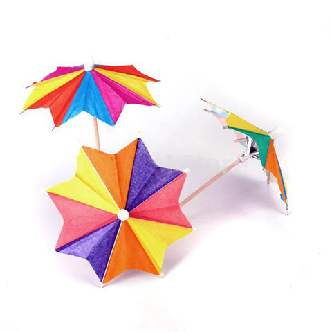 Parasol Umbrella Picks 145 Pcs