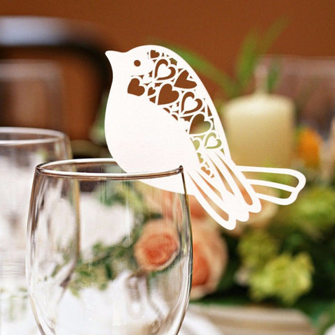 Love Birds Place Cards 50 Pcs