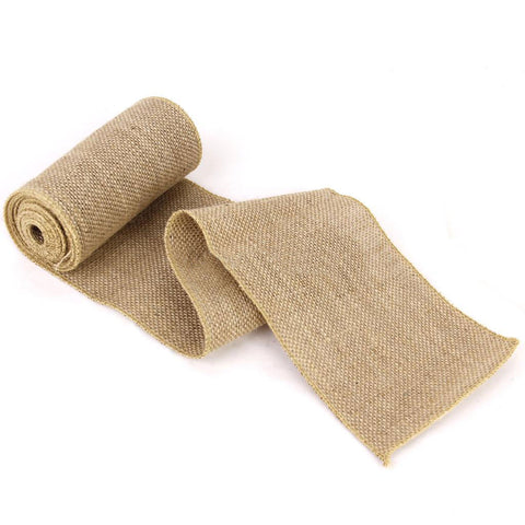 Wide Burlap Craft Ribbon