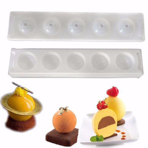 Silicone Bakeware 3D Sphere Ball Shape Mold