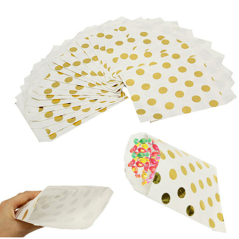 Candy Foil Paper Bags 25 Pcs Gold