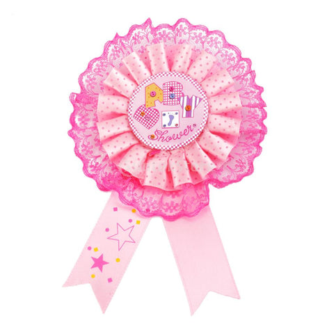 Baby Shower Award Ribbon Badge 5 Pcs
