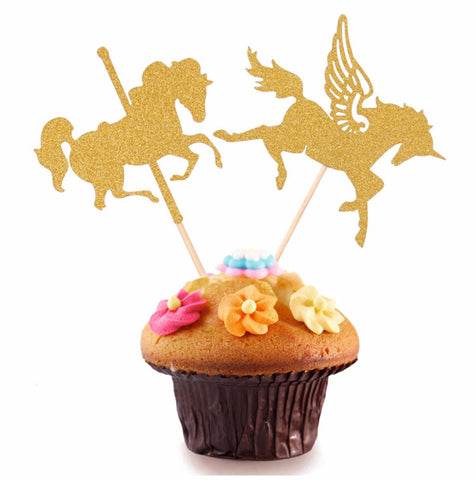 Unicorn Cake Topper 5 Pcs