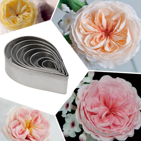 Rose Petal Fondant Cutters 7 Pcs Set
