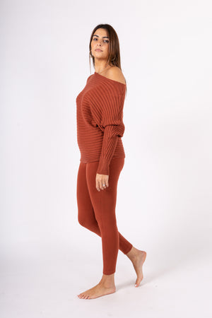 Mesh sweater with raglan sleeve