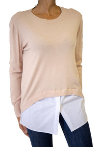 Long sleeves top with bottom shirt finishing