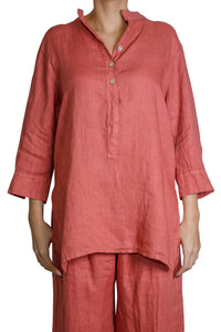 3 button tunic shirt