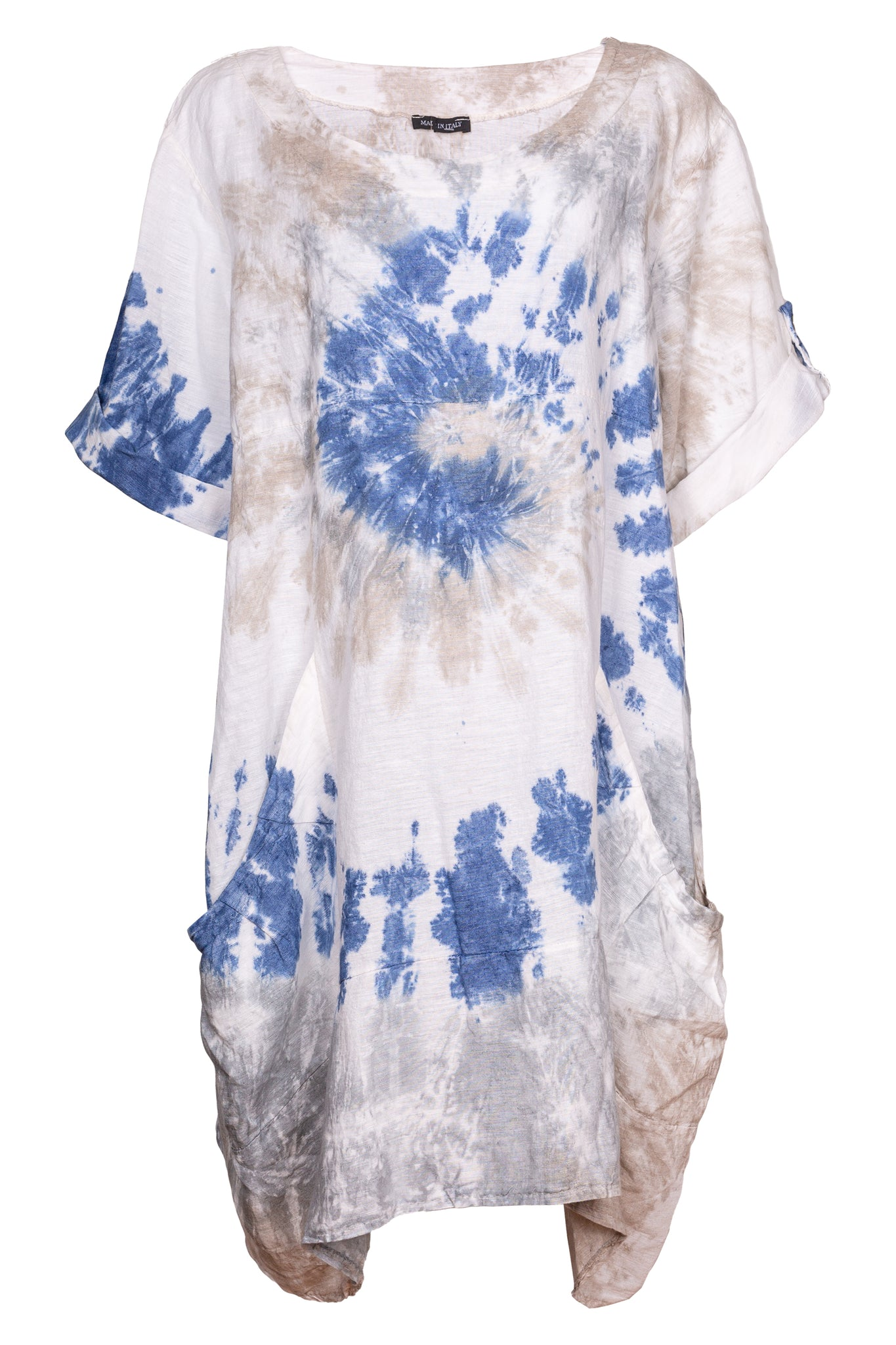 Silk Tie Dye Printed Dress