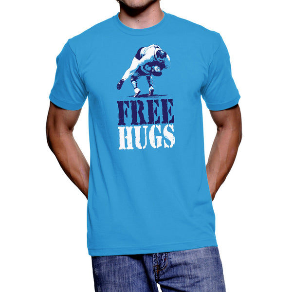 Free Hugs T-Shirt (Aquatic Blue)
