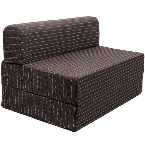 Uberlyfe Sofa Cum Bed - Perfect for Guests - Jute Fabric Washable Cover -Chocolate Brown| 4' X 6' Feet.(SCB-001726-BR)