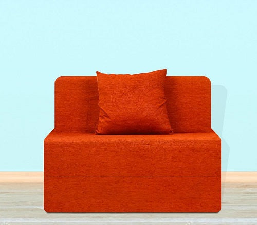 Moshi Sofa Bed (3' x 6') - With 1 Cushion | Orange