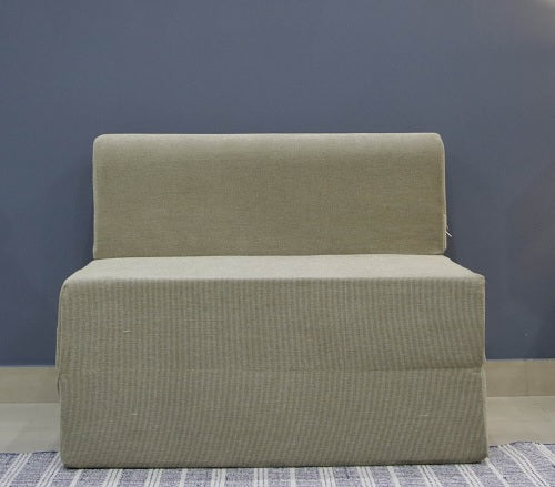 Chenille Sofa Bed (3' x 6') | Dotted Cream