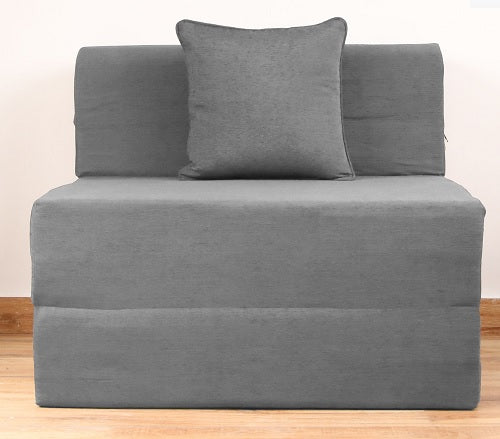 Moshi Sofa Bed (3' x 6') - With 1 Cushion | Light Grey