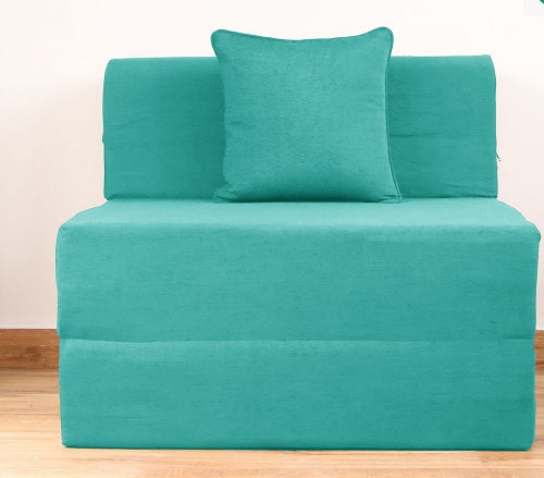 Moshi Sofa Bed (3' x 6') - With 1 Cushion | Sky Blue