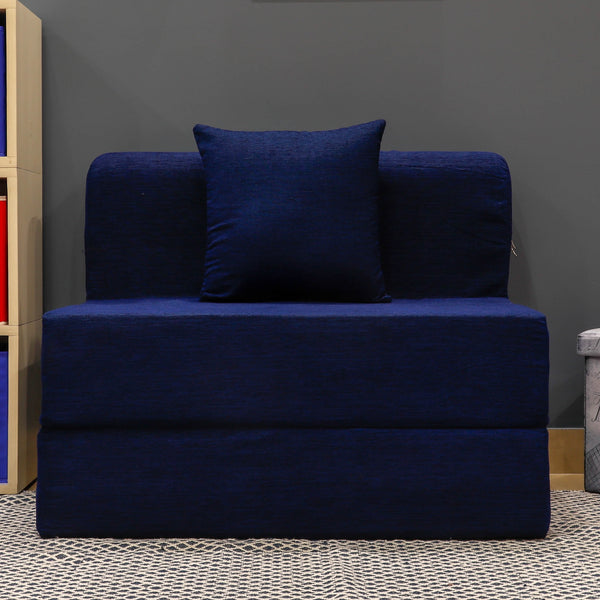 Moshi Sofa Bed (3' x 6') - With 1 Cushion | Navy Blue