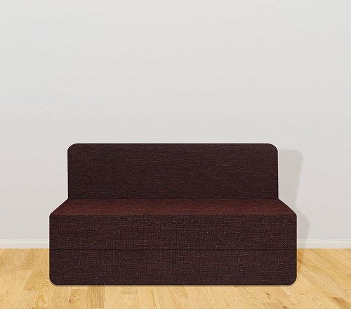 Chenille Sofa Bed (4' x 6') | Dotted Brown