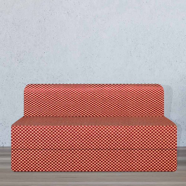 Cotrise Sofa Bed (6' X 6') | Check Red